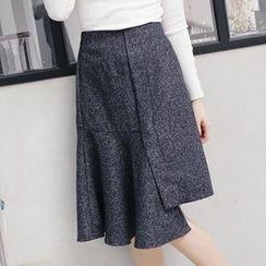 Tokyo Fashion - Asymmetric-Hem A-Line Skirt