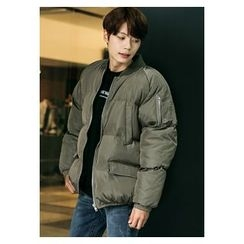 HOTBOOM - Flap-Pocket Puffer Flight Jacket