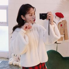 chuu - Zip-Up Faux-Fur Jacket
