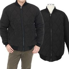 Seoul Homme - Quilted Padded Bomber Jacket
