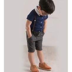 Cuckoo - 小童套装: 短袖衬衫 + 短裤