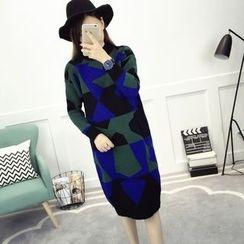 lilygirl - Patterned Knit Dress