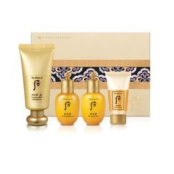 The History of Whoo - Gongjinhyang Mi Luxury BB Special Set: BB Cream SPF20 PA++ 45ml + In Yang Balancer 20ml + Lotion 20ml + Foam Cleanser 13ml