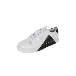 DABAGIRL - Contrast-Trim Faux-Leather Sneakers