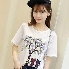 Eferu - Print Short-Sleeve T-Shirt