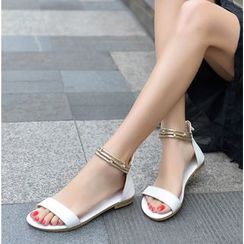 Shoes Galore - Ankle Strap Flat Sandals