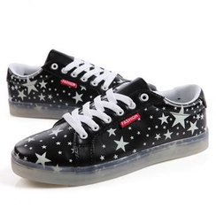 Hipsteria - Star Pattern Couple Luminous Sneakers