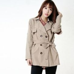 Miss Look - Double-Breasted Trench Coat