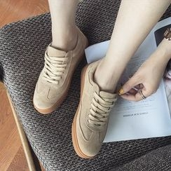 Zapatos - Genuine Leather Sneakers