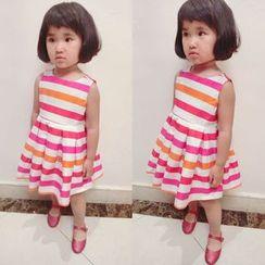 Happy Lala - Kids Sleeveless Striped Dress