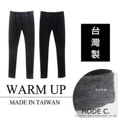 MODE C. - Brushed-Fleece Leggings
