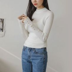 JUSTONE - Slim-Fit Colored Rib-Knit Top