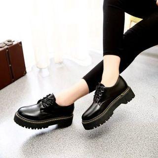 Shoetown - Lace-Up Platform Shoes