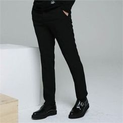 BYMONO - Flat-Front Tapered Dress Pants