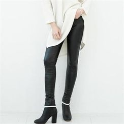 GLAM12 - Faux-Leather Leggings