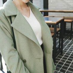 mimi&didi - Wide-Collar Coat with Sash
