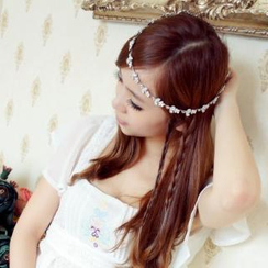Lazy Corner - Rhinestone Elasticized Hair Band
