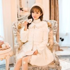 Candy Rain - Furry Panel Long Coat