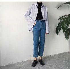 CosmoCorner - Cropped Wide Leg Pants