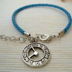MyLittleThing - Blue Clock Leather Bracelet