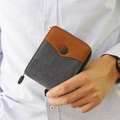 MR.BLUE - Canvas Zip Wallet