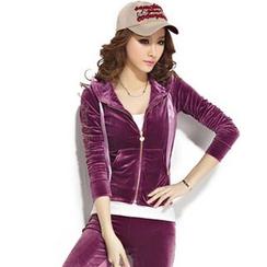Tabla - Set : Velvet Sports Jacket + Pants