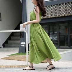 Dowisi - Halter Chiffon Dress
