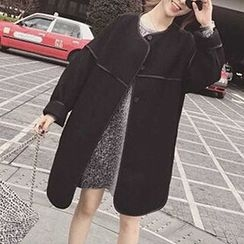 Cloud Nine - Piped Snap Button Trench Coat