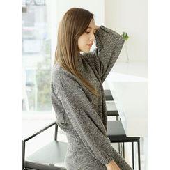 BBAEBBAE - Set: High-Neck Sweater + Skirt