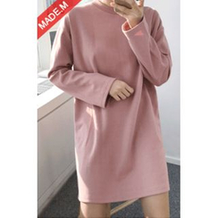 MICHYEORA - Crew-Neck Pullover Dress