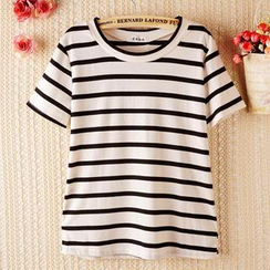 JVL - Short-Sleeve Striped T-Shirt