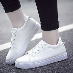 HANO - Couple Matching Plain Lace Up Sneakers