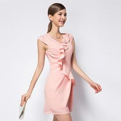 O.SA - Ruffled Sheath Dress