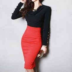 Amella - Set: Blouse + Pencil Skirt