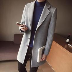 JORZ - Plain Long Woolen Coat