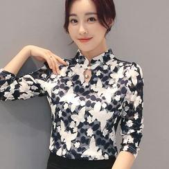 Romantica - 长袖前领孔衬衫