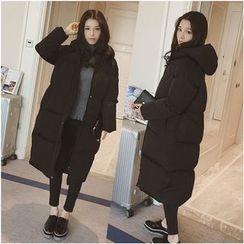 Sienne - Plain Hooded Padded Coat