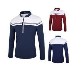 Blueforce - Striped Half-Zip Long-Sleeve T-Shirt