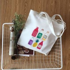 Ms Bean - Printed Canvas Shopper Bag