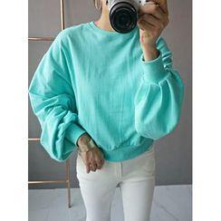 STYLEBYYAM - Colored Balloon-Sleeve Sweatshirt
