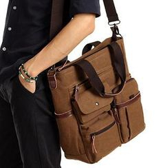 Moyyi - Multi-Pocket Tote with Strap