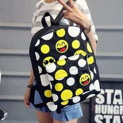 Bagolo - Dotted Canvas Backpack