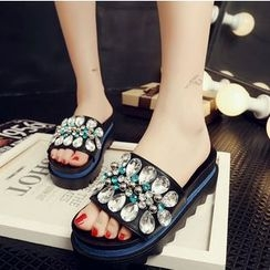 BAYO - Rhinestone Slide Sandals
