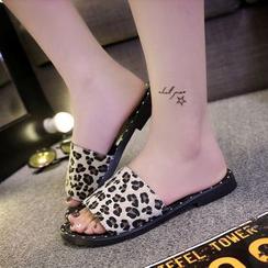 BAYO - Leopard Print Slippers
