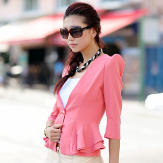 SO Central - Shoulder Pad Peplum Blazer
