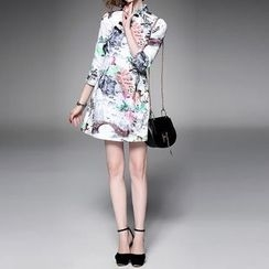 Alaroo - 印花七分袖旗袍