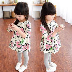 Debii - Kids Long-Sleeve Floral Dress