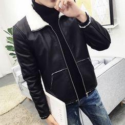 ZONZO - Faux Leather Zip Jacket