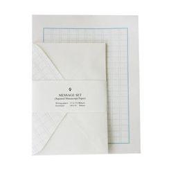 iswas - Squared Manuscript Paper Letter Set - (M)