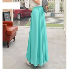 Jenny's Couture - Pleated Maxi Skirt